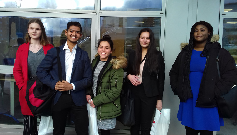Photo of students at Keele University's Medical School