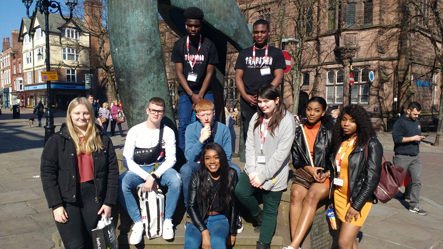 Photo of students visiting Chester University